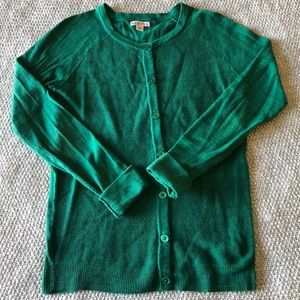 Green Button Up Sweater